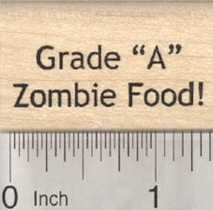Grade A Zombie Food Rubber Stamp