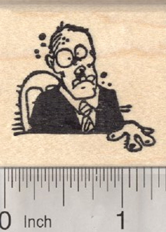 Halloween Zombie Rubber Stamp