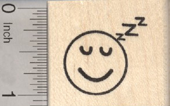 Sleeping Emoji Rubber Stamp, Snoring Face