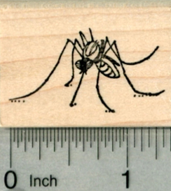 Mosquito Rubber Stamp