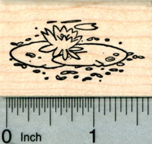 Lily Pad Rubber Stamp