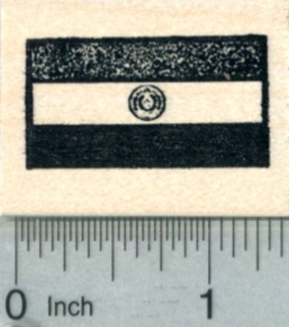 Flag of Paraguay Rubber Stamp