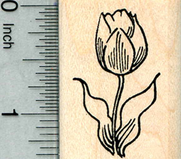 Tulip Flower Rubber Stamp, Summer Floral Series