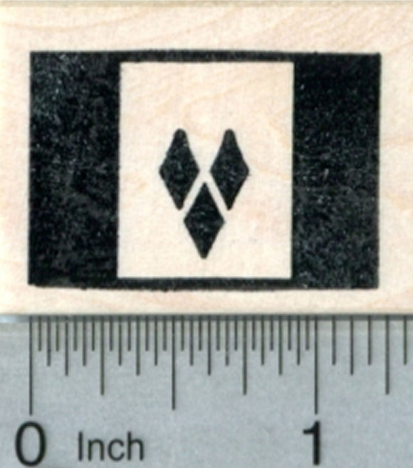 Flag of Saint Vincent and the Grenadines Rubber Stamp