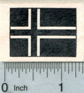 Flag of Iceland Rubber Stamp