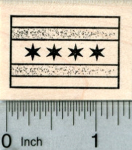 Flag of Chicago Rubber Stamp, American City