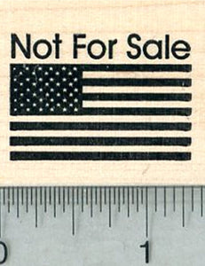 Not For Sale Flag Rubber Stamp, American Democracy, Election
