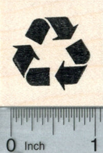 Recycling Rubber Stamp, Recycle Symbol