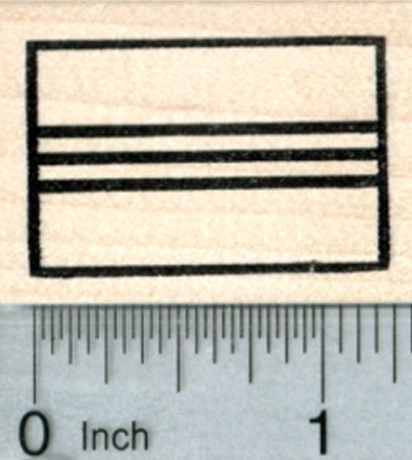 Flag of South Vietnam Rubber Stamp, Vietnamese Heritage and Freedom