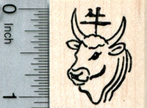 Year of the Ox Rubber Stamp, Chinese New Year, Zodiac