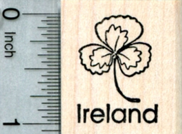 Ireland Rubber Stamp, Irish Shamrock