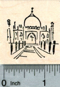 Small Taj Mahal Rubber Stamp, India, World Travel Series