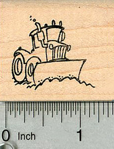 Wheel Loader Rubber Stamp, Construction Equipment Series