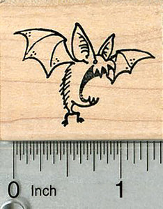 Halloween Bat Rubber Stamp