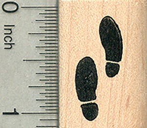 Human Footprints Rubber Stamp, Detective Series