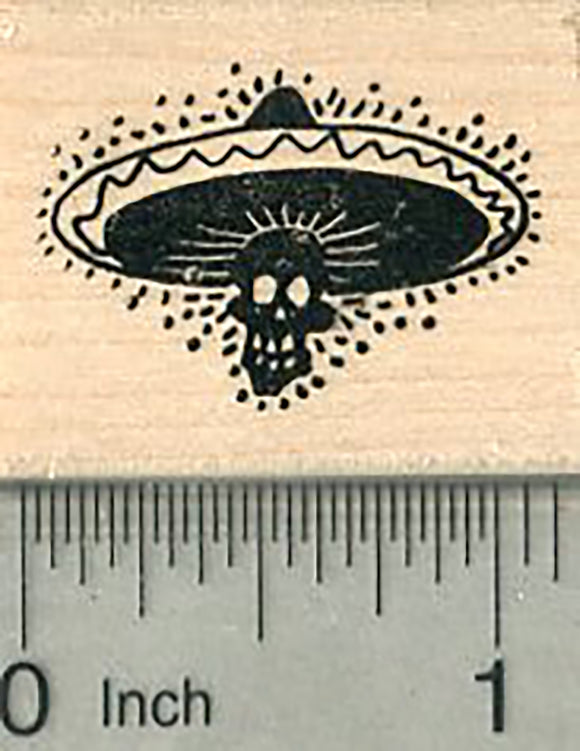 Day of the Dead Rubber Stamp, Dia de los muertos