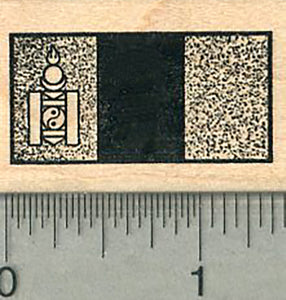 Flag of Mongolia Rubber Stamp