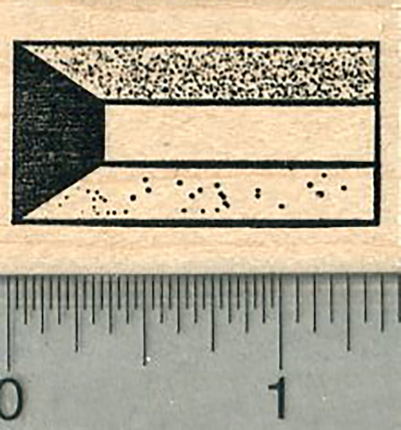 Flag of Kuwait Rubber Stamp