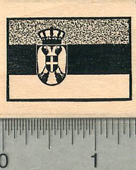 Flag of Serbia Rubber Stamp