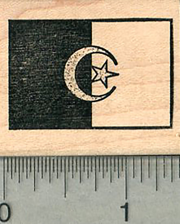 Flag of Algeria Rubber Stamp
