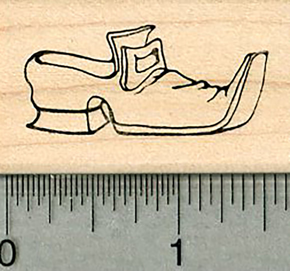 Pilgrim Shoe Rubber Stamp, Facing Right, with Buckle