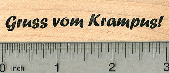 Krampus Saying Rubber Stamp, Gruss vom, Greetings from