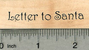 Letter to Santa Rubber Stamp, Christmas Series