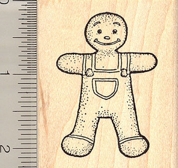 Gingerbread Boy Rubber Stamp, Christmas Cookie, Fairy Tale