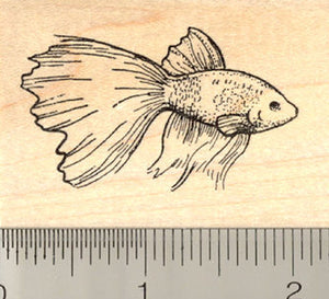 Betta Fish #2 Rubber Stamp