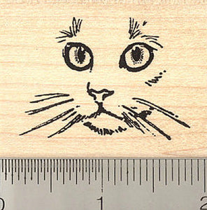 Cat Face Rubber Stamp