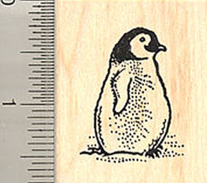 Small Penguin Rubber Stamp