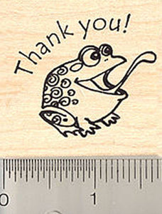 Thank You Frog Rubber Stamp
