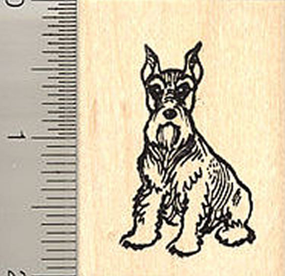 Miniature Schnauzer Dog Rubber Stamp