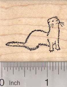 Ferret Rubber Stamp, Small, Looking up