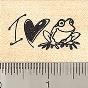 I Love Frogs Rubber Stamp