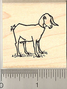 Small Nubian Goat Rubber Stamp