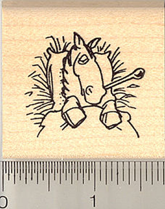 Sick Horse Rubber Stamp (Great for Get Well Cards)