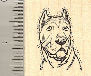 Cane Corso Dog Portrait Rubber Stamp