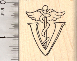 Veterinary Symbol Rubber Stamp