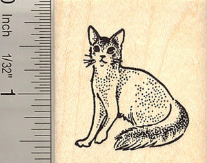 Somali Cat Rubber Stamp