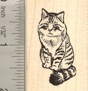 Siberian Cat Rubber Stamp