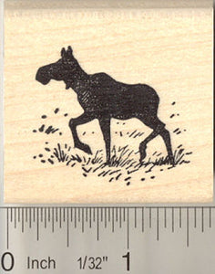 Moose Silhouette Rubber Stamp