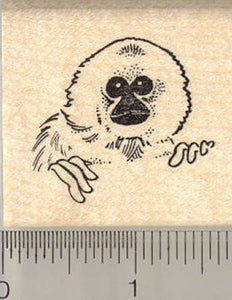 Gibbon Portrait Rubber Stamp