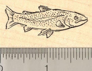 Trout Rubber Stamp