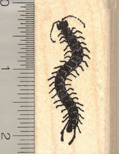 Centipede Rubber Stamp