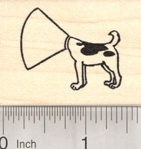 Collar Dog Rubber Stamp