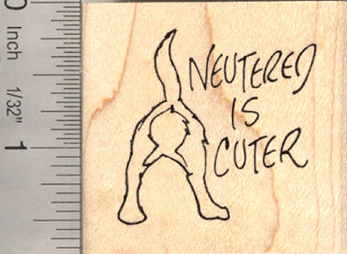 Neutered is Cuter Pet Rubber Stamp