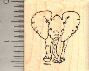 Baby Elephant Rubber Stamp