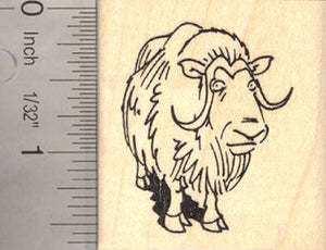 Muskox (Musk Ox) Rubber Stamp