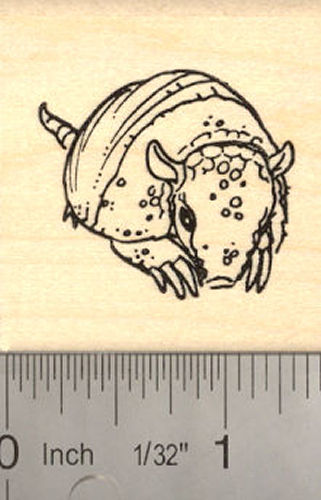 Armadillo Rubber Stamp